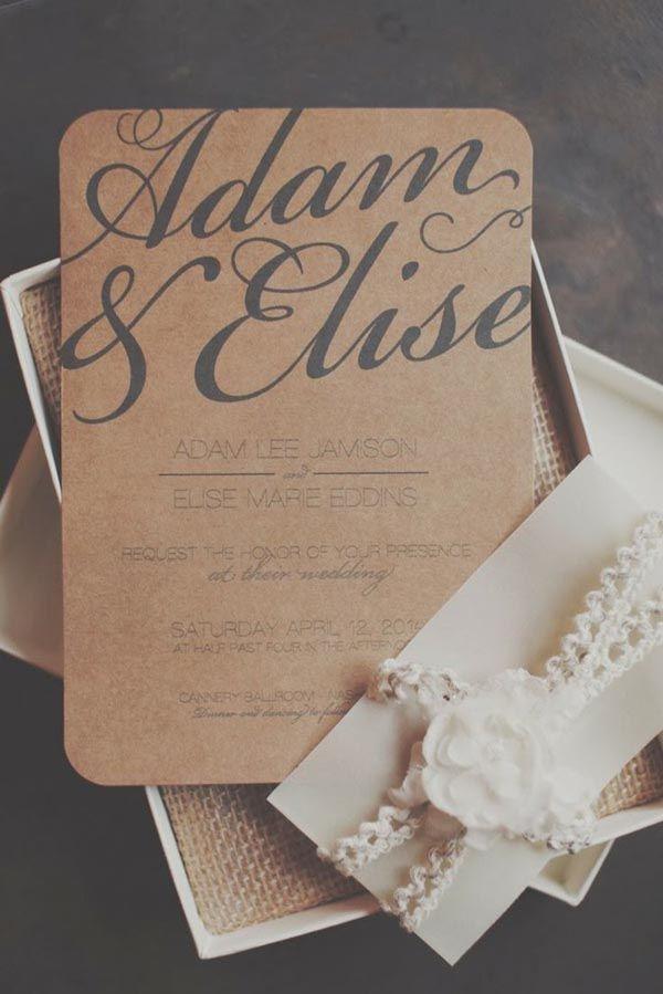 Top 15 popular rustic wedding invitations idea