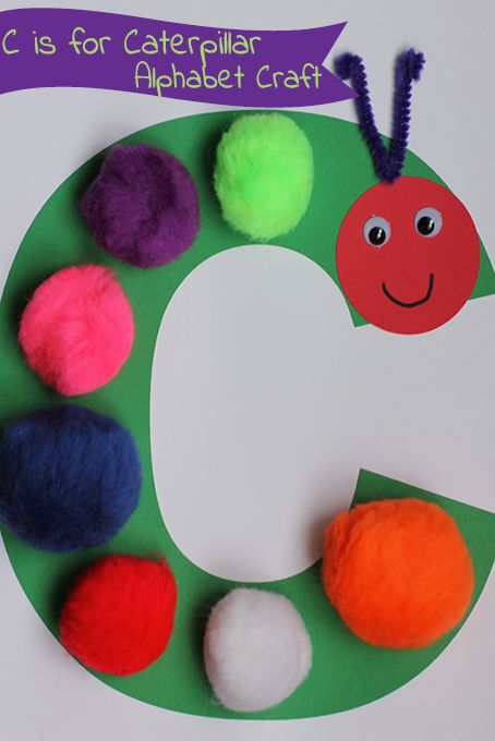 Make this simple C is for Caterpillar craft with your toddler. The perfect simple craft to accompany a cherished book!