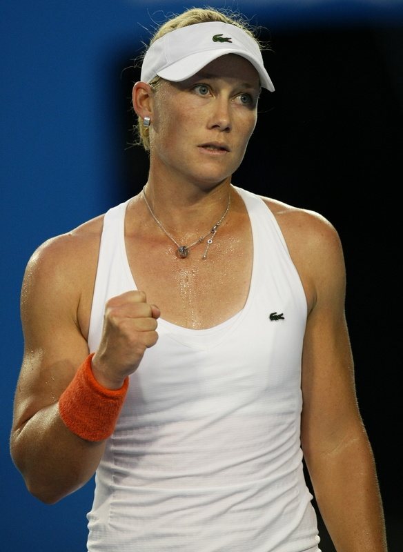 I love tennis, especially Sam Stosur. I love January when the tennis is always on