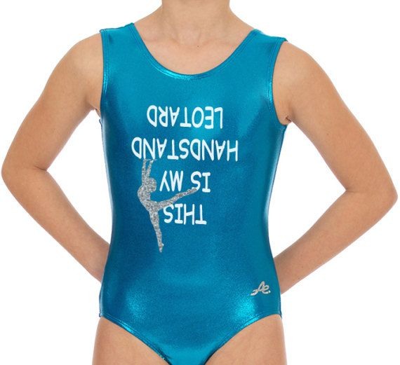 Gymnastic leotard this is my handstand leotard appliqué