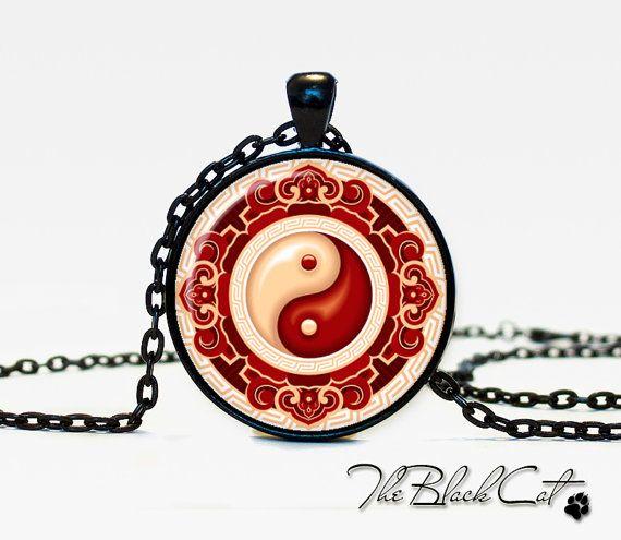 Ying yang symbols pendant ying yang  necklace ying yang sign  jewelry Magic Sign