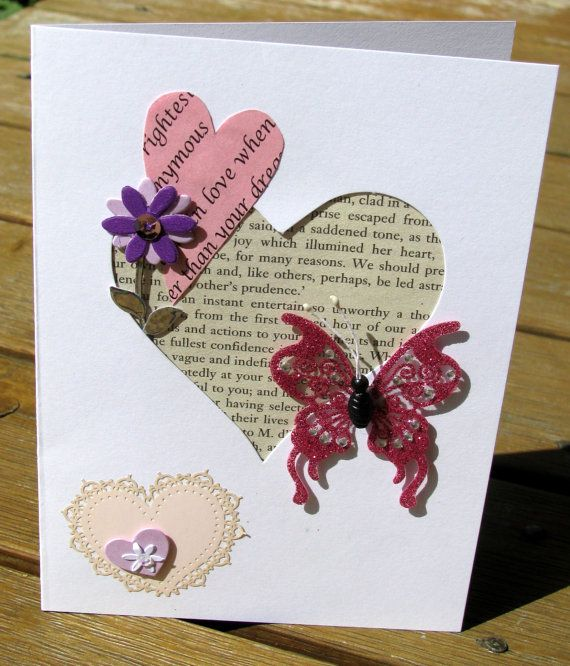 Love Story  Handmade Card  valentines day by RogueKissedCraft