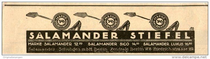 Original-Werbung/Inserat/ Anzeige 1914 - SALAMANDER SCHUHE - ca.180 X 50 mm