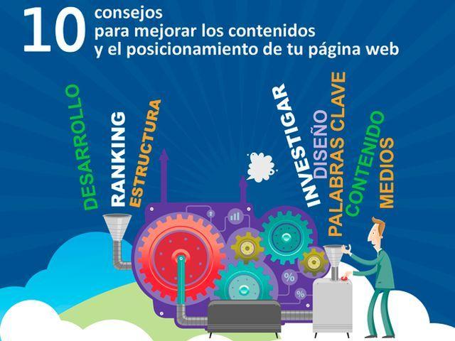 Una infografía con 10 consejos para mejorar el SEO en Google