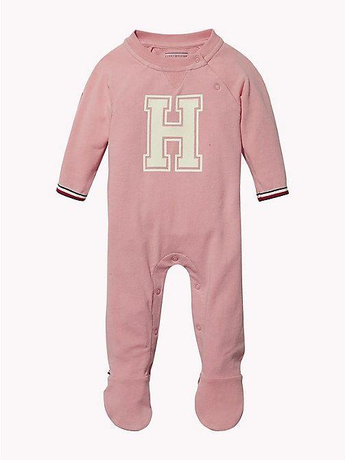 24ee95671 TOMMY HILFIGER Varsity Babygrow - BLUSH - TOMMY HILFIGER Girls - main image