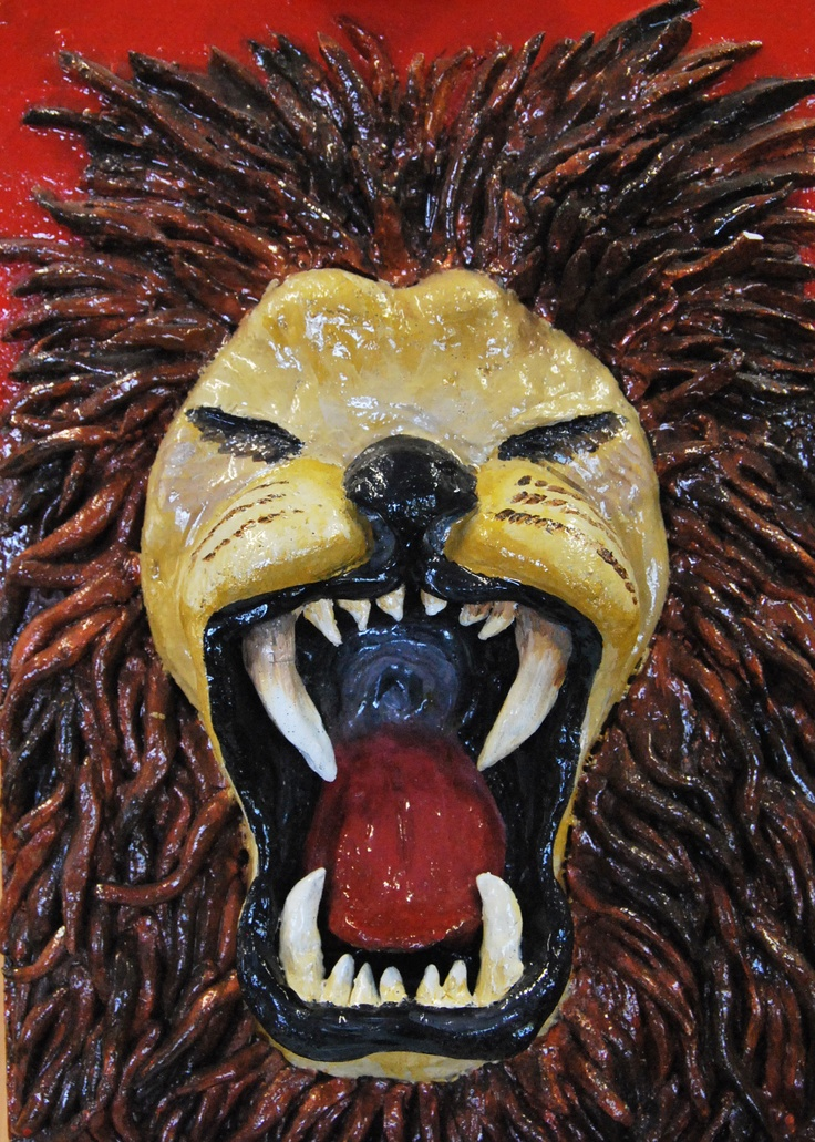 Lion Painting, Harriet Gray, Year 12