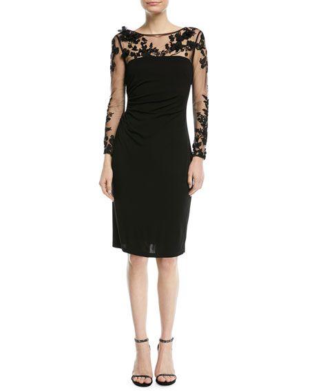bb13cbfbd950 3D Tattoo-Illusion Long-Sleeve Dress | Fancypants | Dresses, David ...