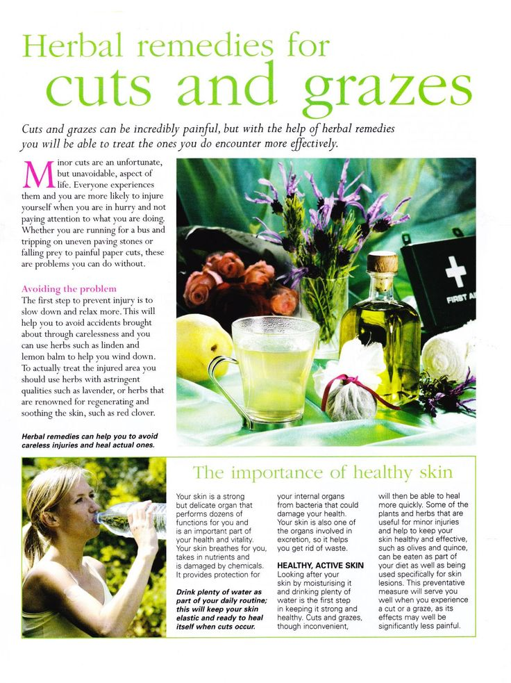 Herbal remedies for cuts and grazes