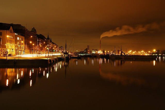 Helsinki harbour by thomasbosboom, via Flickr