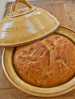 "Nancy Baggett's Kitchenlane: Introducing a Fine New ""Kneadless"" Bread Pot & a Crusty Wheat Pot Boule to Bake in It"