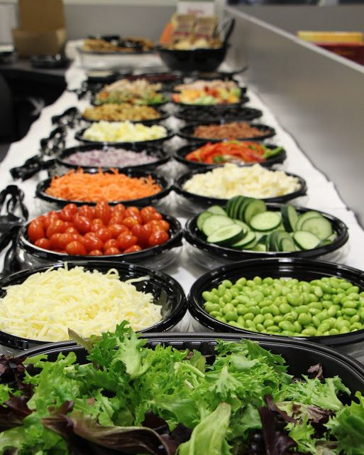 Check out Fresh City for a delicious catered salad bar for your next office lunch!