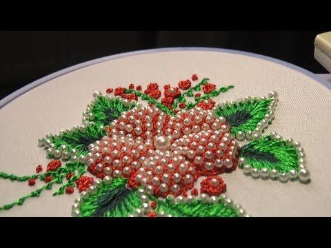 Hand Embroidery Designs | Net stitch design for cushion cover | Stitch and Flower-157 - YouTube
