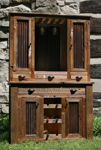 Inquire for your own Barn Wood Hutch at info@lakeandmountainhome.com or visit us at www.lakeandmountainhome.com, we want to hear from you! #barn #wood #hutch