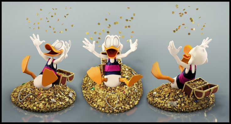 Uncle Scrooge - Shower by Eder Carfagnini (2013)