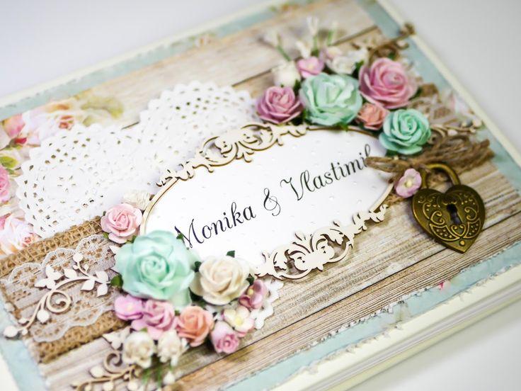 """Dianka Kreativity: Svatební kniha hostů """"Beautiful Day"""", Wedding book, Wedding, shabby chic, Craft & You - Beutiful Day"""
