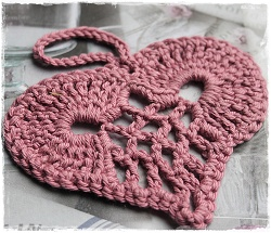 Oud roze hartje