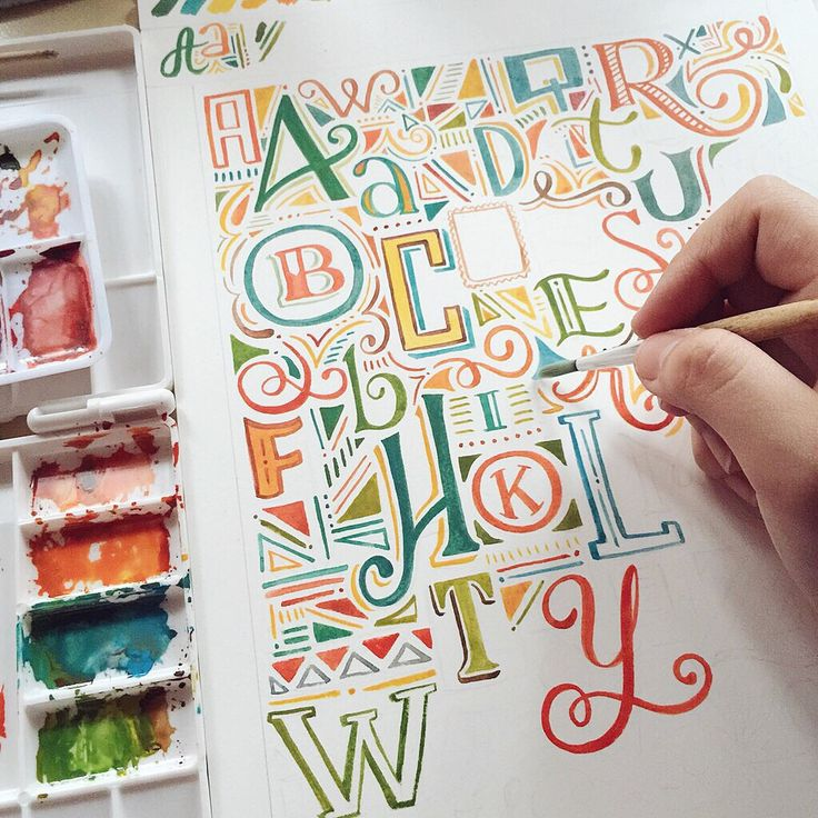 Such pretty hand drawn type! The colors are awesome and the little details between the letters look great.
