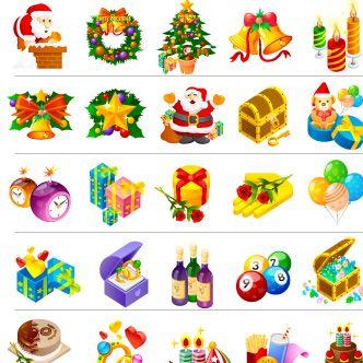 Vectores de objetos navideños | Puerto Pixel | Recursos de Diseño