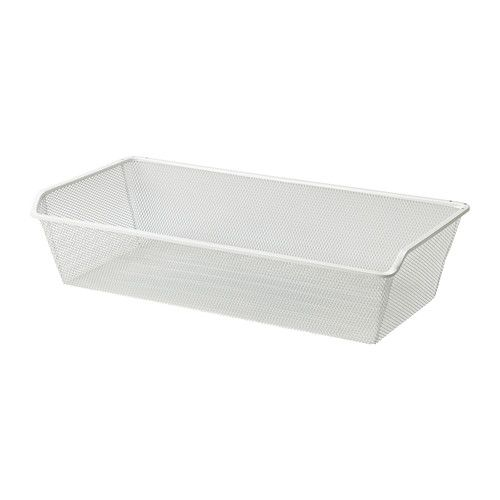 IKEA KOMPLEMENT Mesh basket with pull-out rail White 75x35 cm 10 year guarantee. Read about the terms in the guarantee brochure.