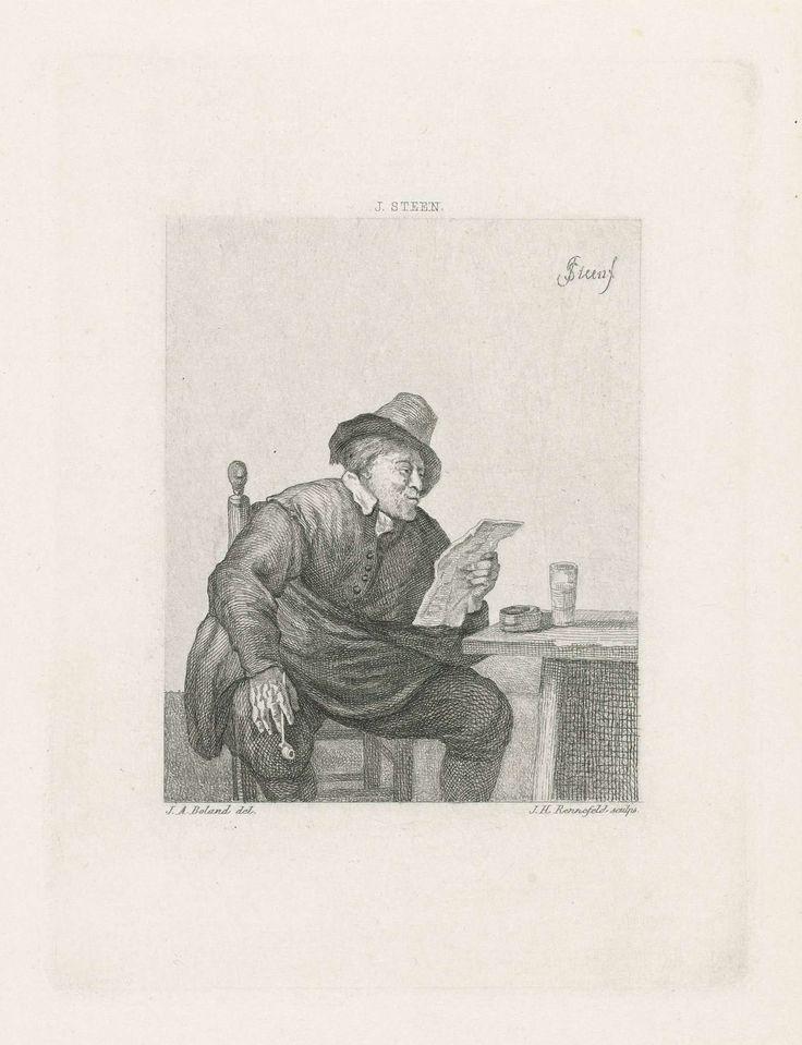 Man met een brief, Johann Heinrich Maria Hubert Rennefeld, 1845 - 1877