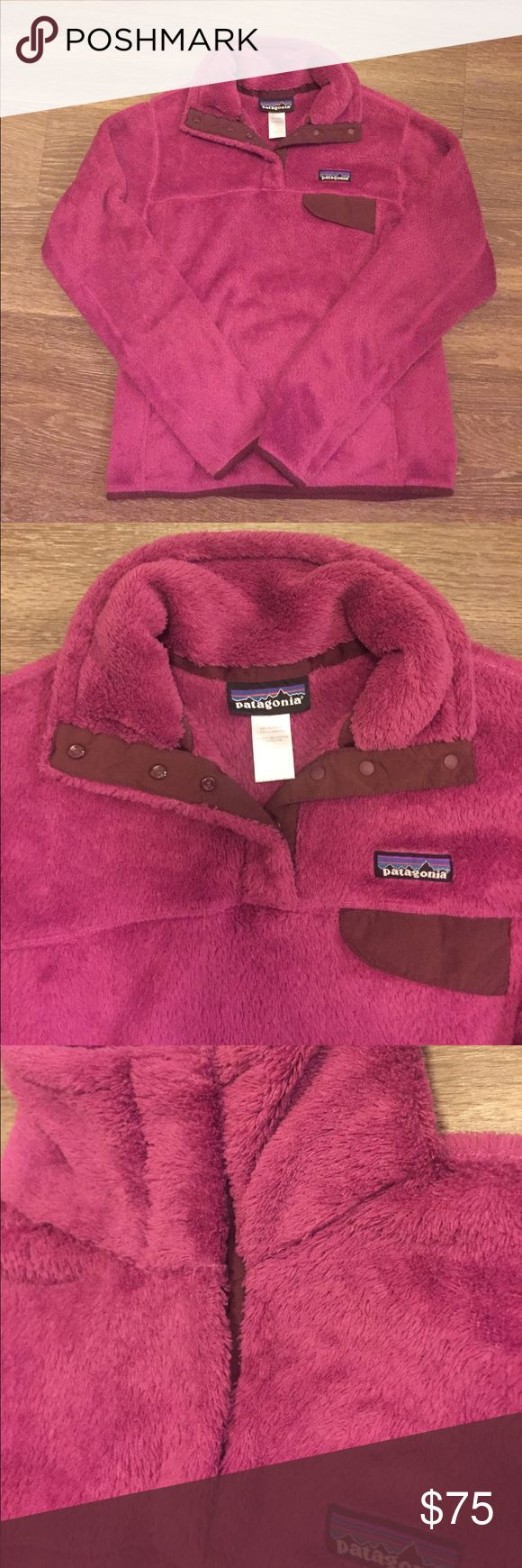 Patagonia Re Tool Pink and Brown Fleece - Small Very cute and comfy Patagonia fleece for sale! EUC! Pink in color with brown accents makes this a must have for your fall wardrobe! This jacket has been well taken care of and is in excellent condition. No rips, stains or snags anywhere on this fleece. Let me know if you have any questions!   🚫Pets  🚫Smoking Patagonia Jackets & Coats