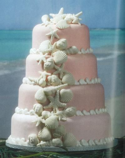 sea shell wedding cake beautiful cute cakes pinterest sea shells the o 39 jays and wedding. Black Bedroom Furniture Sets. Home Design Ideas