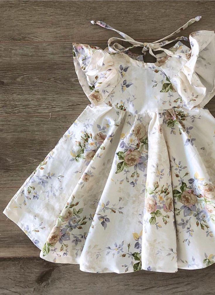 Handmade Floral Linen Earth Rose Savanna Dress | MiyaAndMa on Etsy