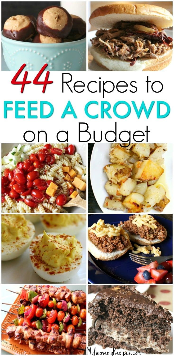 Try a few of these 44 Amazing Recipes That Will Feed a Crowd on a Budget. There's plenty to go around, won't cost a fortune and are quick to make. #recipes #crowd #budget #cheapfood #easy    via @heavenlyrecipe