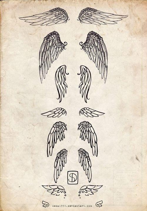 Sketched Angel Wings