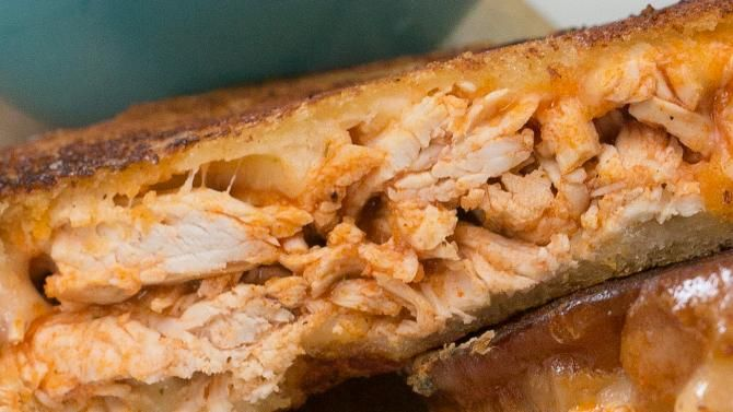 On the hunt for a delicious grilled cheese sandwich? Try this Buffalo Chicken Grilled Cheese. It's perfect for...
