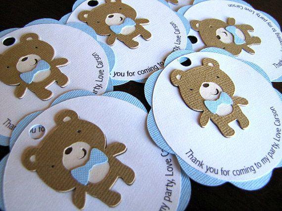 Oso de peluche fiesta Favor etiquetas etiquetas de regalo oso