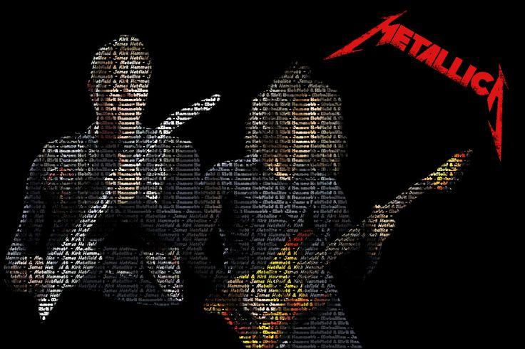 James Hetfield & Kirk Hammett from Metallica