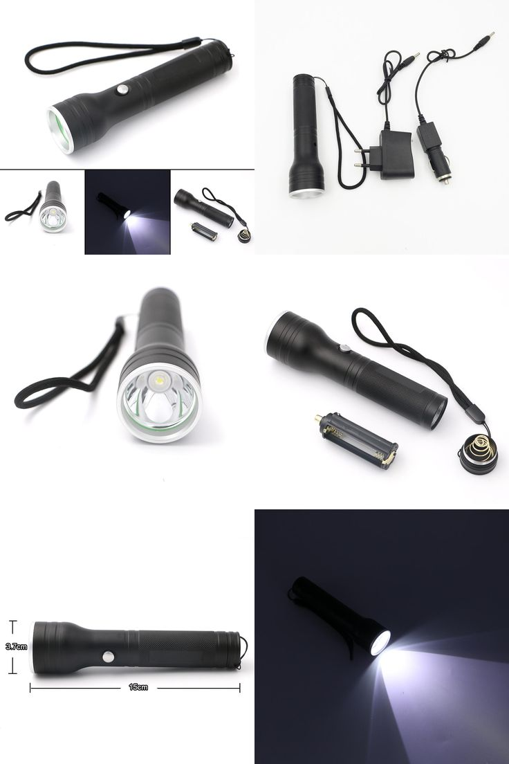 [Visit to Buy] New Arrival 3 Modes LED Rechargeable Flashlight Power By 1*18650 Or 3*AAA Battery Super Bright Torch Light+AC/Car Charger #Advertisement