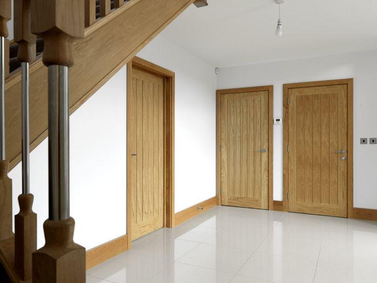 Classic modern #oakdoors look stunning in any setting. JB Kind - River Oak Cottage, Yoxall door.
