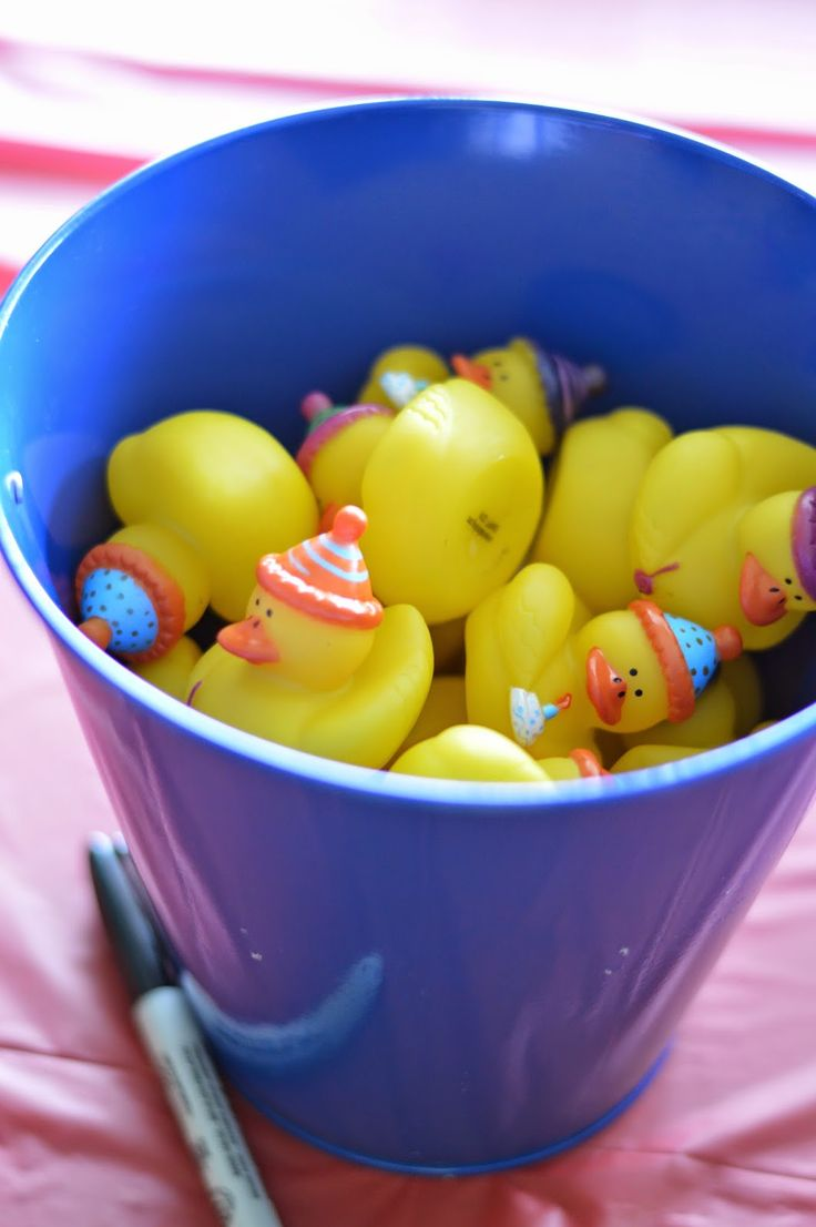 Donald Duck Birthday Party Activities: Duck Races