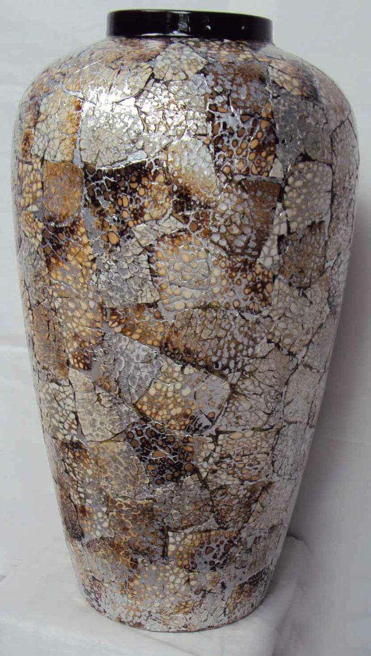 Bamboo lacquer eggshell vase for Home Decor. 100% handmade of craftmenship