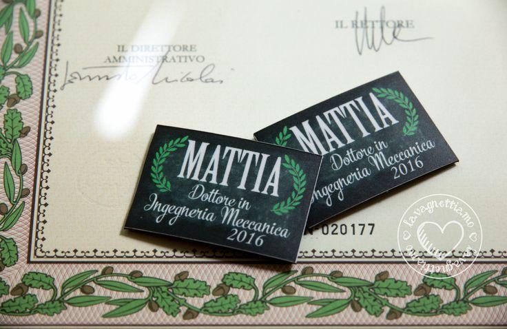 La #laurea di Mattia è firmata #lavagnettiamo! Un ricordo originale e unico per tutti gli invitati ai festeggiamenti del neo dottore in ingegneria!! lavagnettiamo@gmail.com