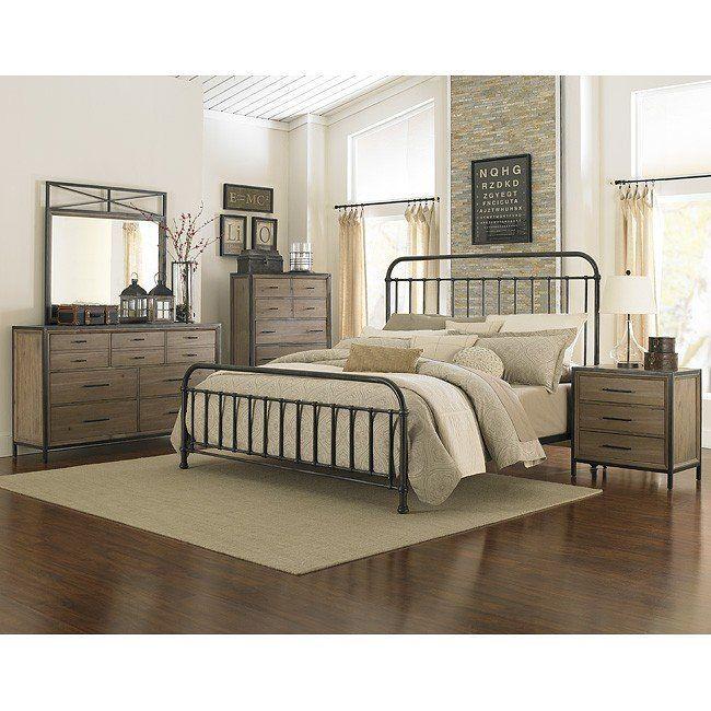 Shady Grove Metal Bedroom Set Magnussen, Wood And Metal Bedroom Furniture Set