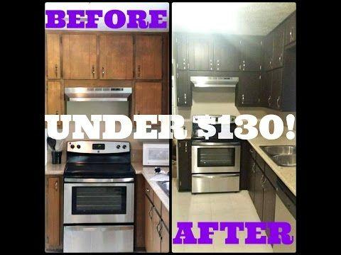 TheKiaRashan transformed her kitchen for under $130! Using Rust-Oleum ...