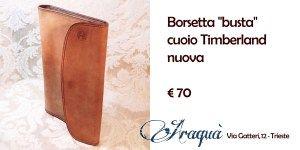 """Borsetta """"busta"""" cuoio Timberland nuova € 70"""