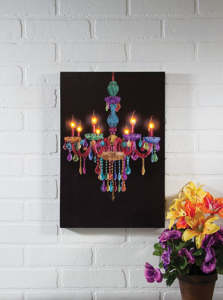 Lighted Picture Boho Chandelier by Radiance Lighted Canvas ...