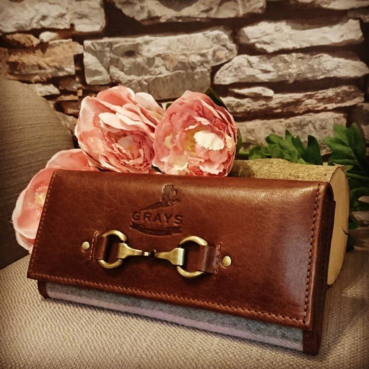 A stunning leather purse to add to your collection from Grays Country Gifts | Made from buffalo leather ensures each purse is unique, hard wearing and incredibly stylish  with it's snaffle bit detail on the front | A must have for equestrians! | Lofthouse Equestrian