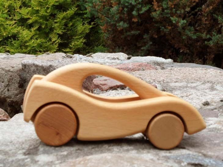 City Classic Coupe Wooden Car from Desdeco Wooden Toys by DaWanda.com