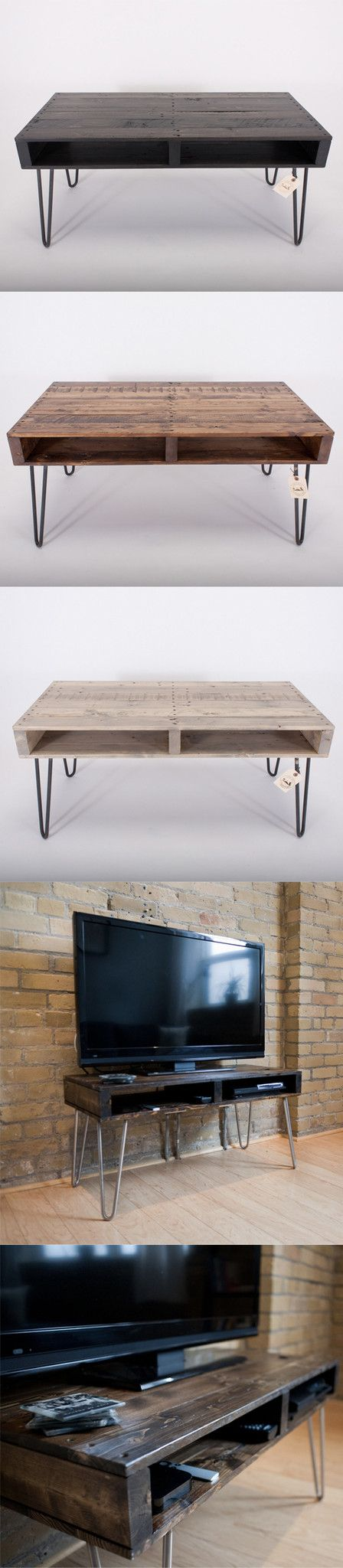 Handmade Reclaimed Pallet Wood TV Stand, coffee table