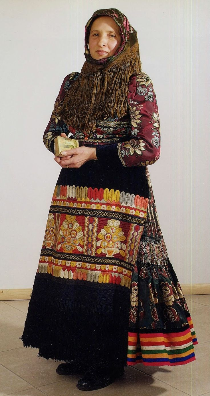 Mezőkövesd traditional embroidered folk dress