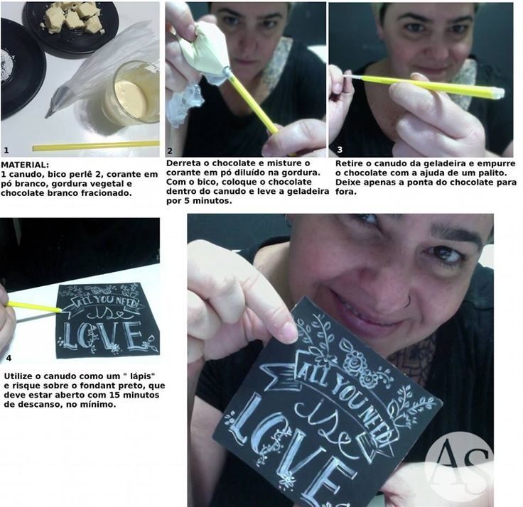 Edible chalc made of white chocolate and white edible color in a straw | Ana Elisa Salinas
