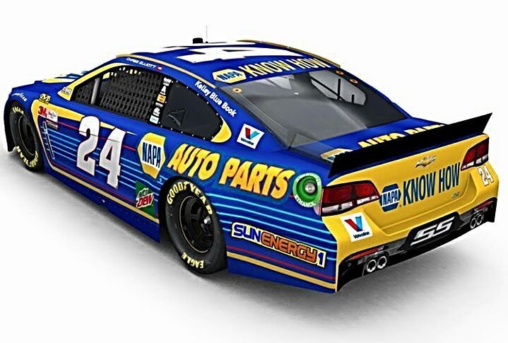 """314 Likes, 12 Comments - Thanks for following! (@lastlapinsider) on Instagram: """"CHASE ELLIOTT'S 2017 NAPA PAINT SCHEME: What does everyone think about Chase Elliott's 2017 NAPA…"""""""