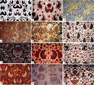 Classification of Yogya Semen Batik Motif   : 1.Wahyu tumurun bledak; 2. Tluki…