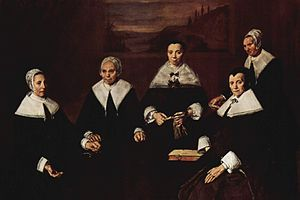 Frans Hals. Las regentes del asilo de ancianos de Haarlem, 1664.