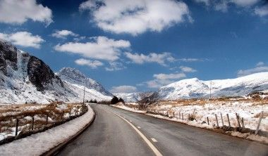 Beautiful shot of North Wales in the snow taken by Steve Ransome